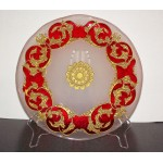 Red and Gold Decorative Charger Plate