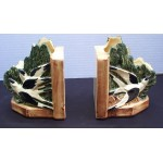 Vintage McCoy Swallowtail Bookend Planters