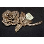 Vintage CINER Open Rose Brooch