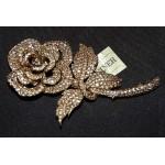 Vintage CINER Open Rose Brooch