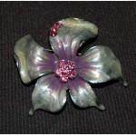Vintage Hibiscus Brooch