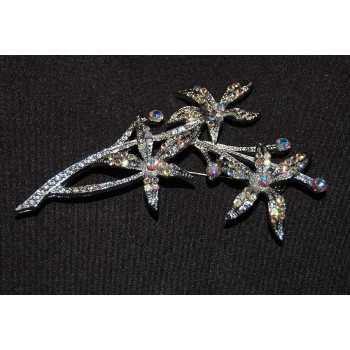 Star Burst Floral Brooch