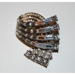 Carolee Vintage Crystal Swag Brooch