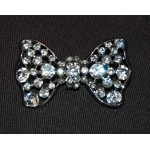 Vintage Diamante Bow Brooch