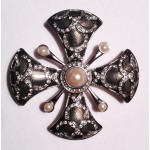 Carolee Maltese Cross Brooch