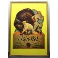 1928 Ken-Wel Lou Gehrig Window Hang Advertisement