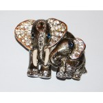 St. John Vintage Mother Elephant with Baby Brooch