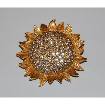 Vintage Carolee Sunflower Pin