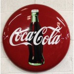 "Rare 36"" Coca-Cola Button Sign"