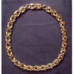 Vintage Gold Tone St. John Runway Necklace