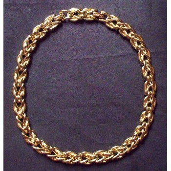 Vintage Gold Tone St. John Runway Necklace
